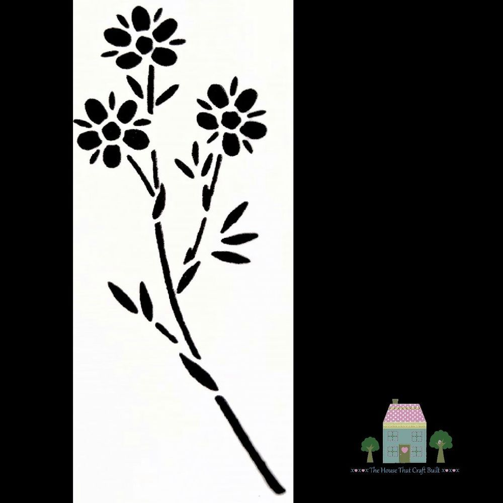 Everlong Vintage Shabby Chic Furniture Flower Stencil Daisy Floral
