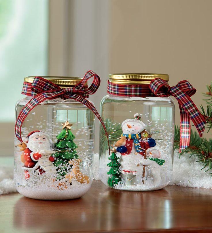 Last Minute Weihnachtsgeschenk Idee - Schneekugeln selber machen ...