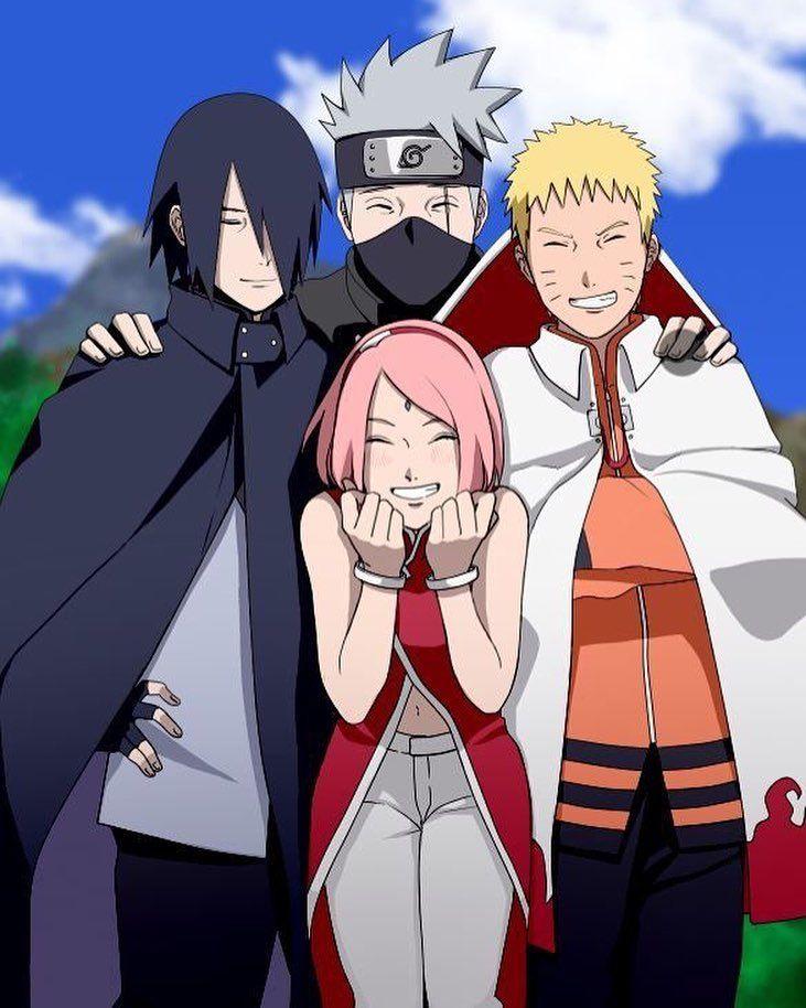Equipe 7:naruto,sakura,sasuke et kakashi | Naruto uzumaki ... Naruto And Sakura And Sasuke