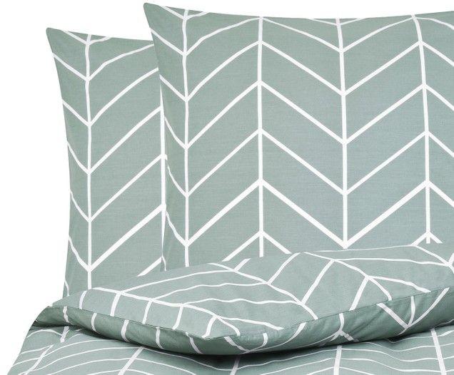 Renforce Bettwasche Mirja Mit Grafischem Muster Throw Pillows