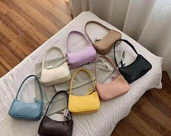 90e Baguette Bag, Summer Straw Handbag, Pearl Bead