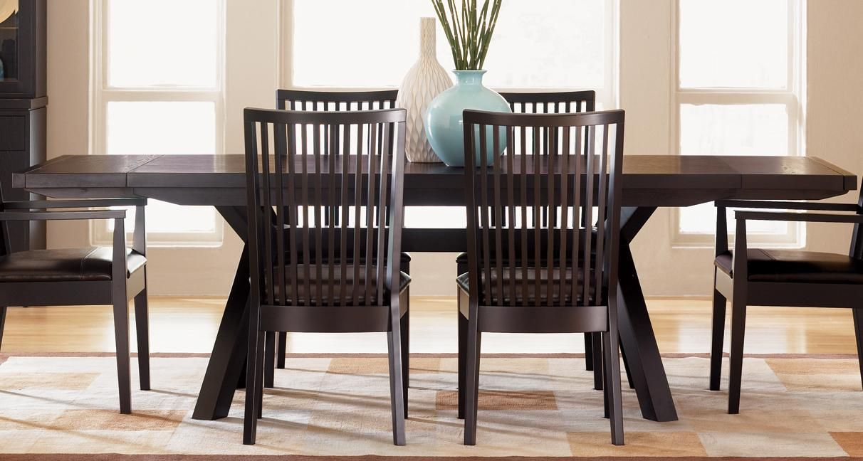Stockton Trestle Dining Table In Java   STI401 JAV By Sitcom Furniture