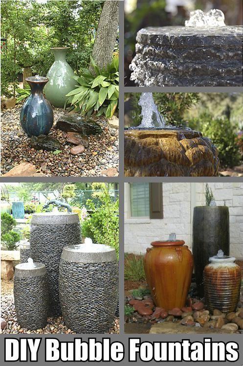 DIY Bubble Fountain Ceramics Pinterest Fuentes, Jardinería y
