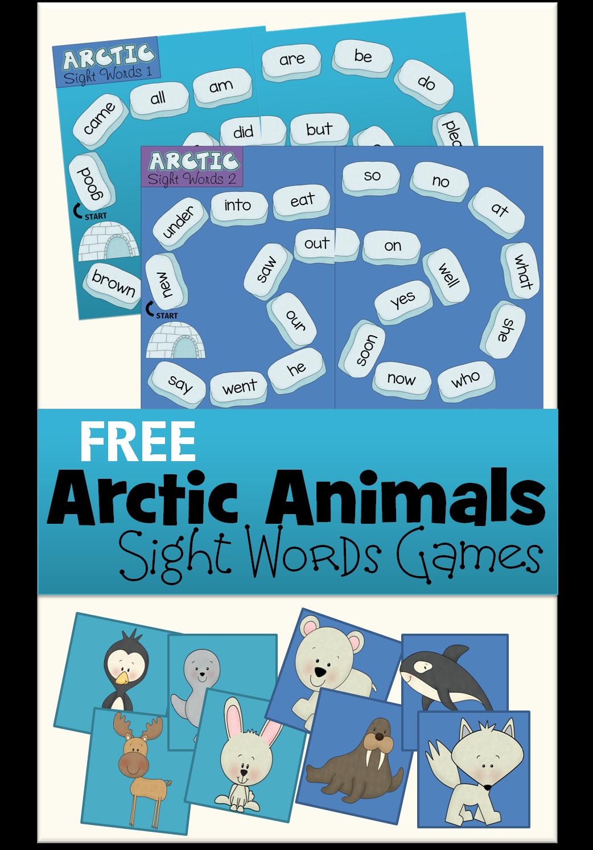 Free Arctic Animals Kindergarten Sight Words Game Sight Words Kindergarten Kindergarten Sight Word Games Arctic Animals Kindergarten [ 1493 x 1042 Pixel ]
