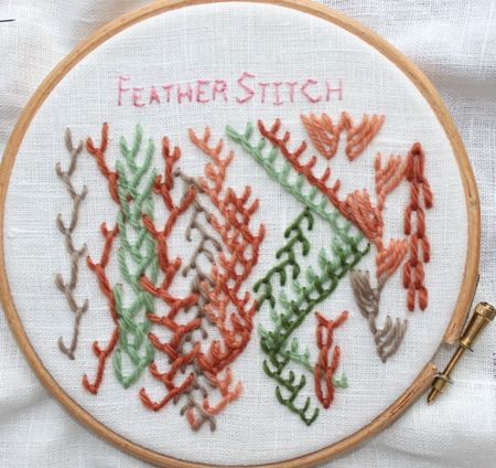 love feather stitch