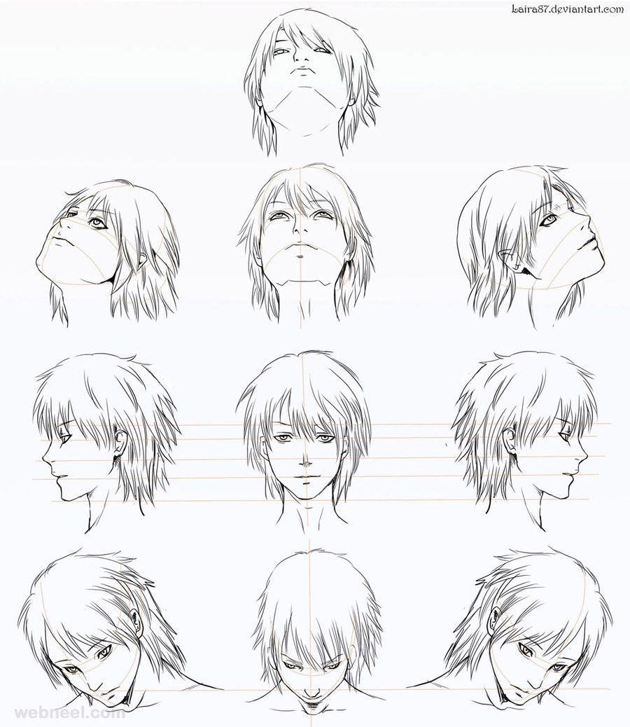 How To Draw Anime Tutorial With Beautiful Anime Character Drawings Anime Character Drawing Anime Head Manga Drawing