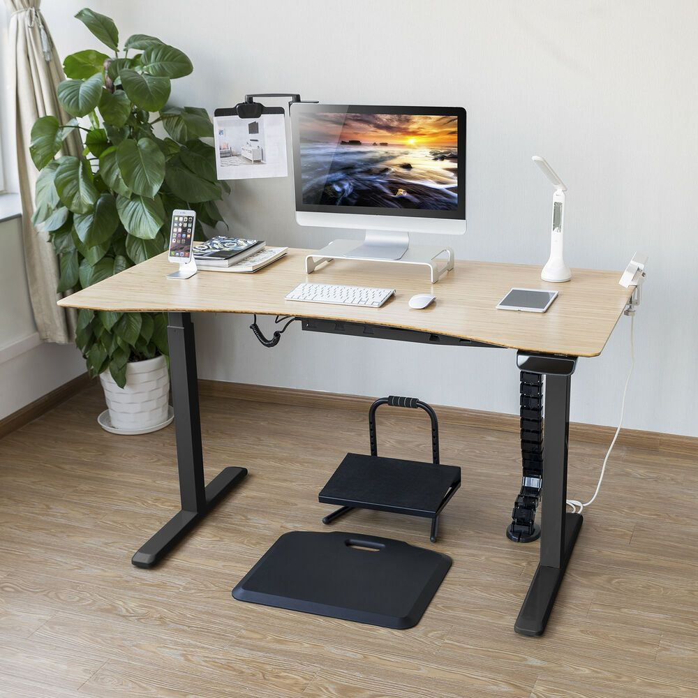 Electric Stand Up Computer Desk Frame W Motor Height Width