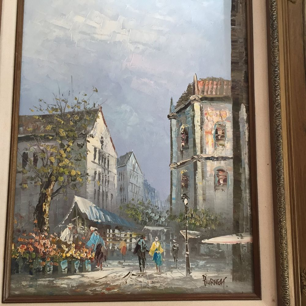 IMPRESSIONISTIC PARIS STREET SCENE OIL ON CANVAS- LISTED ARTIST
