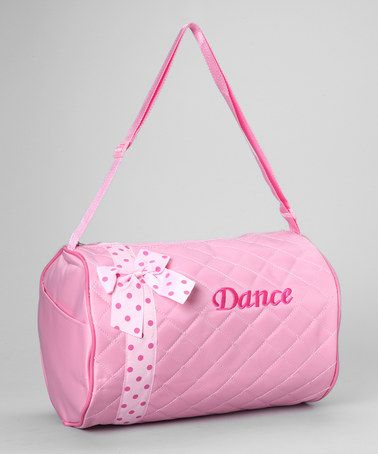 Take A Look At This Pink Quilted Bow Dance Duffel Bag By Seesaws Slides On Zulily Today