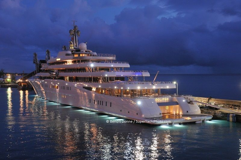 Eclipse The World S Largest Yacht In Barbados Luxury Yachts
