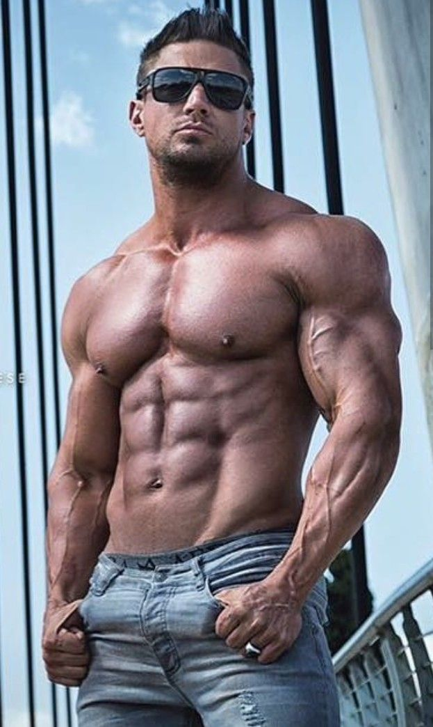 Cute and fashionable muscled dude