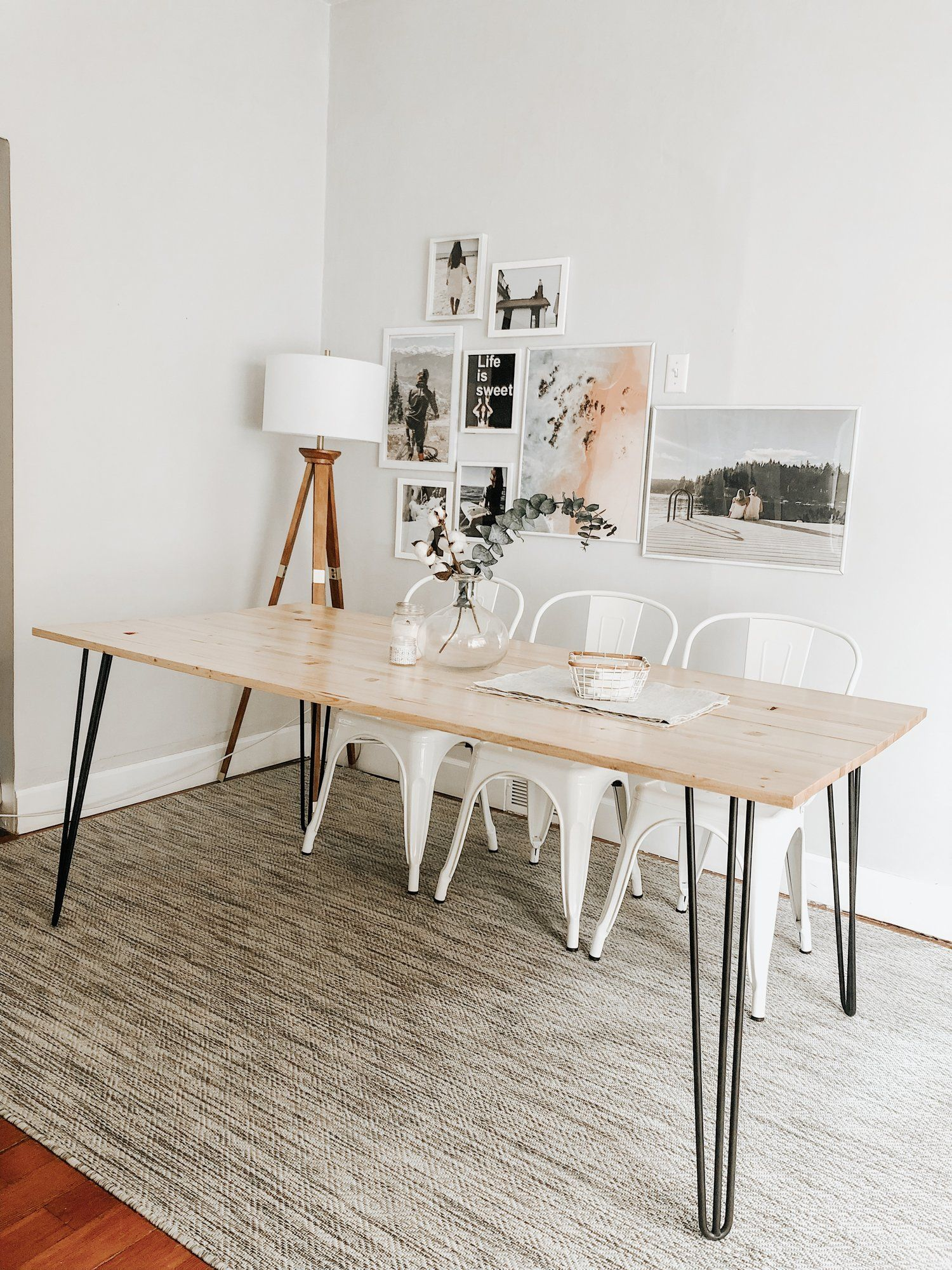 Diy Hairpin Dining Table Diy Dining Room Table Hairpin Dining
