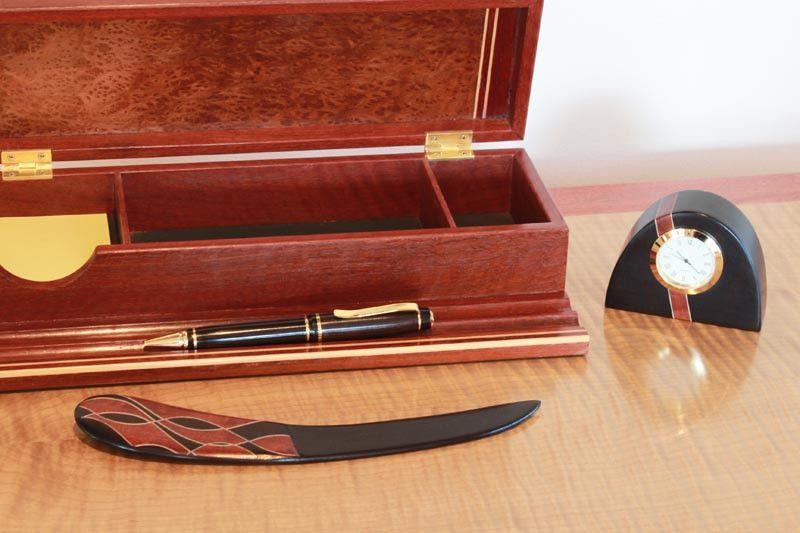 Buy Ancient Redgum Inlaid Letter Opener Online | Australian Woodwork