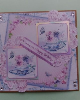 Birthday Teacups from Ruth Hay for the July Case this Craft competition. #crafterscompanion