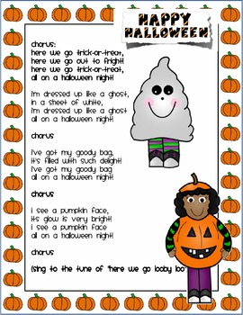 Trick Or Treat Smell My Feet Hallowe En Song Halloween Songs Halloween Resources Halloween Activities For Kids