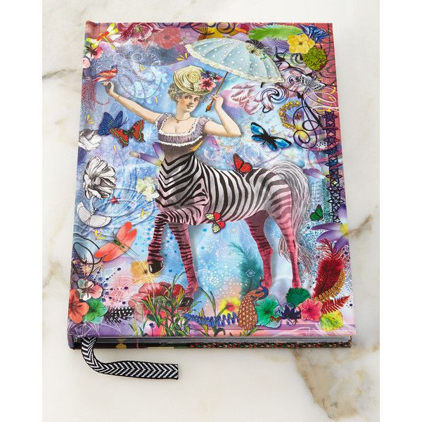 Christian Lacroix Zebra Girl Hardbound Journal ($65) ❤ liked on Polyvore featuring home, home decor e stationery