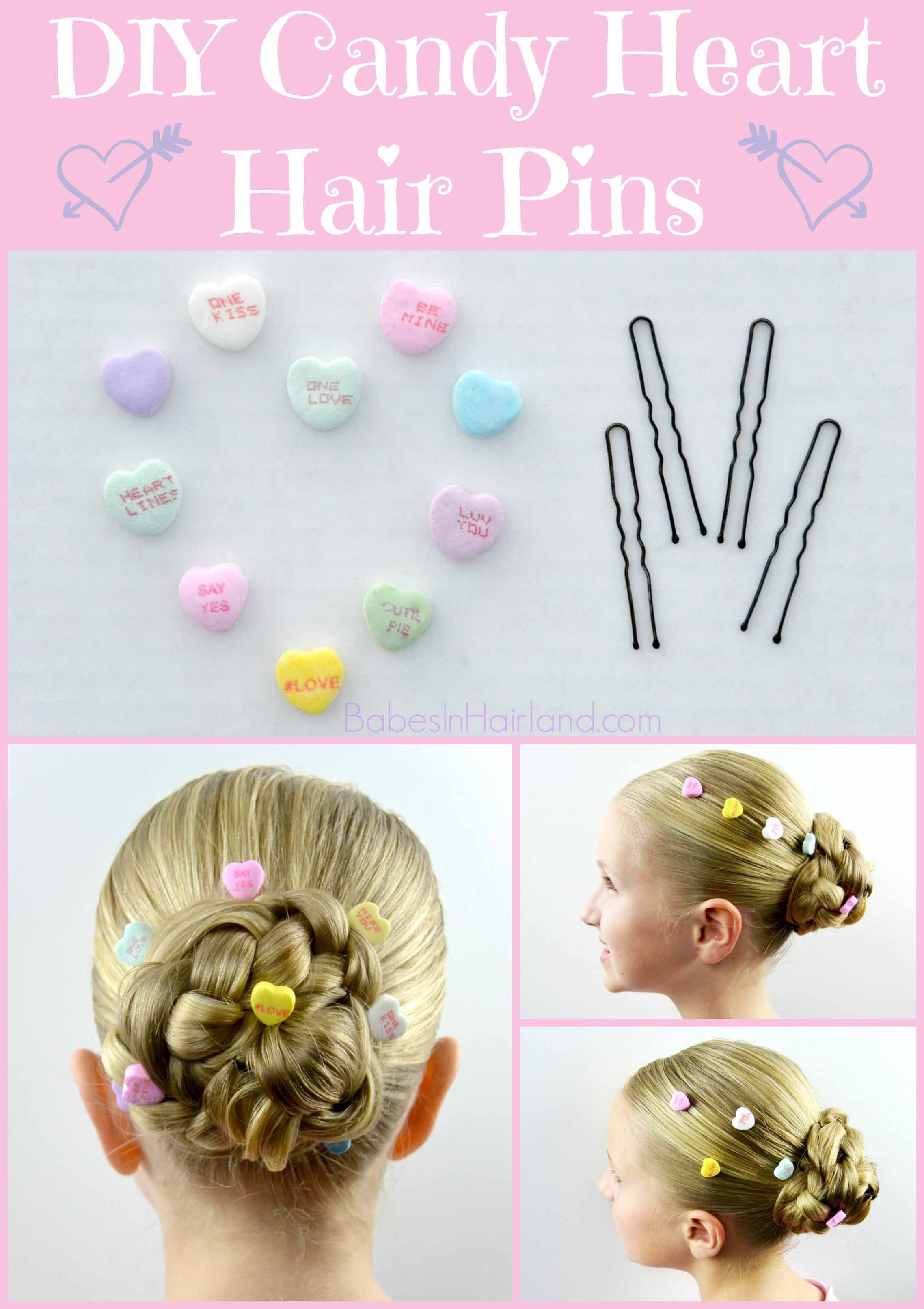 DIY Candy Heart Hair Accessories for Valentine's Day ...