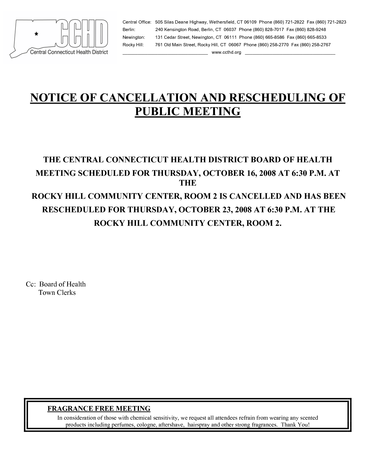 meeting notice samples
