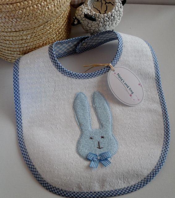 Hagesmæk m/kanin. Blå