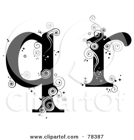 RoyaltyFree Rf Clipart Illustration Of A Vine Alphabet