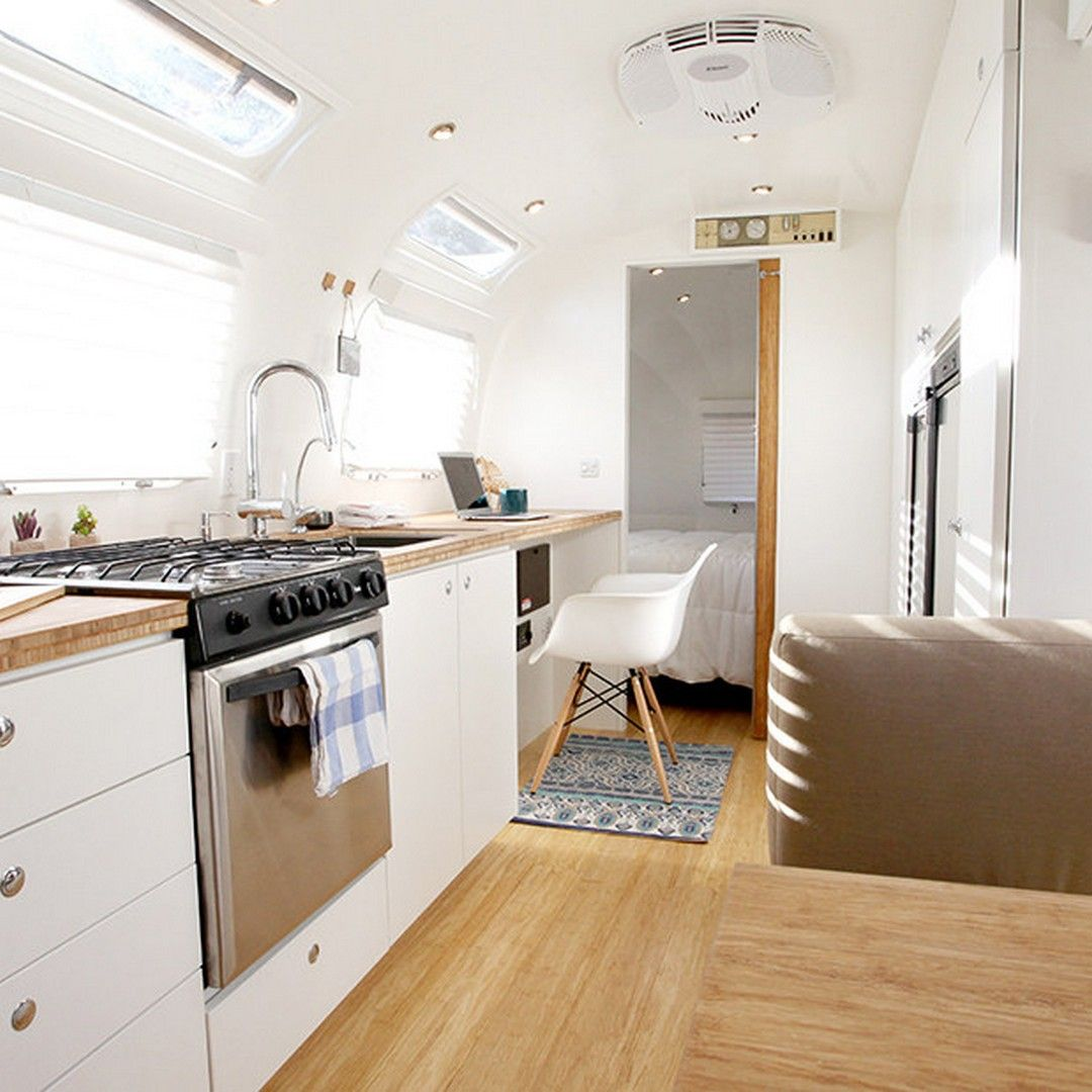 Gorgeous Airstream Renovation Tour Before and After Remodel ...