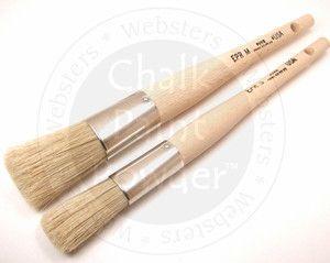 Chalk Pro Easy Paint Round Medium Long Handled Paint Brush With Tapered China Bristles Perfect For Paint Application Easy Paintings Chalk Paint Powder Chalk