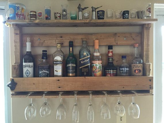 Wine Liquor Rack I Make These Out Of Pallet Wood For A Rugged