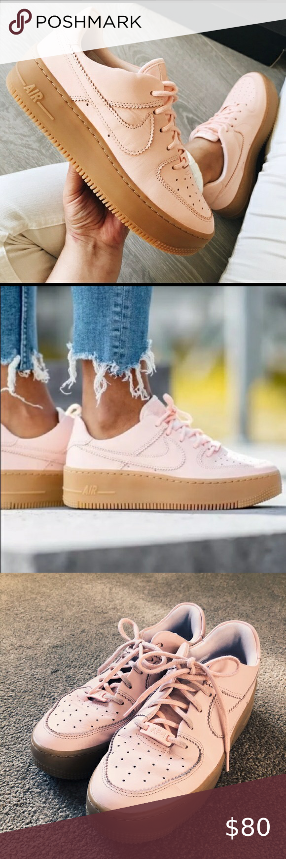 Nike Air Force 1 Sage Low W In Washed Coral Nike Shoes Air Force Nike Air Nike Air Force