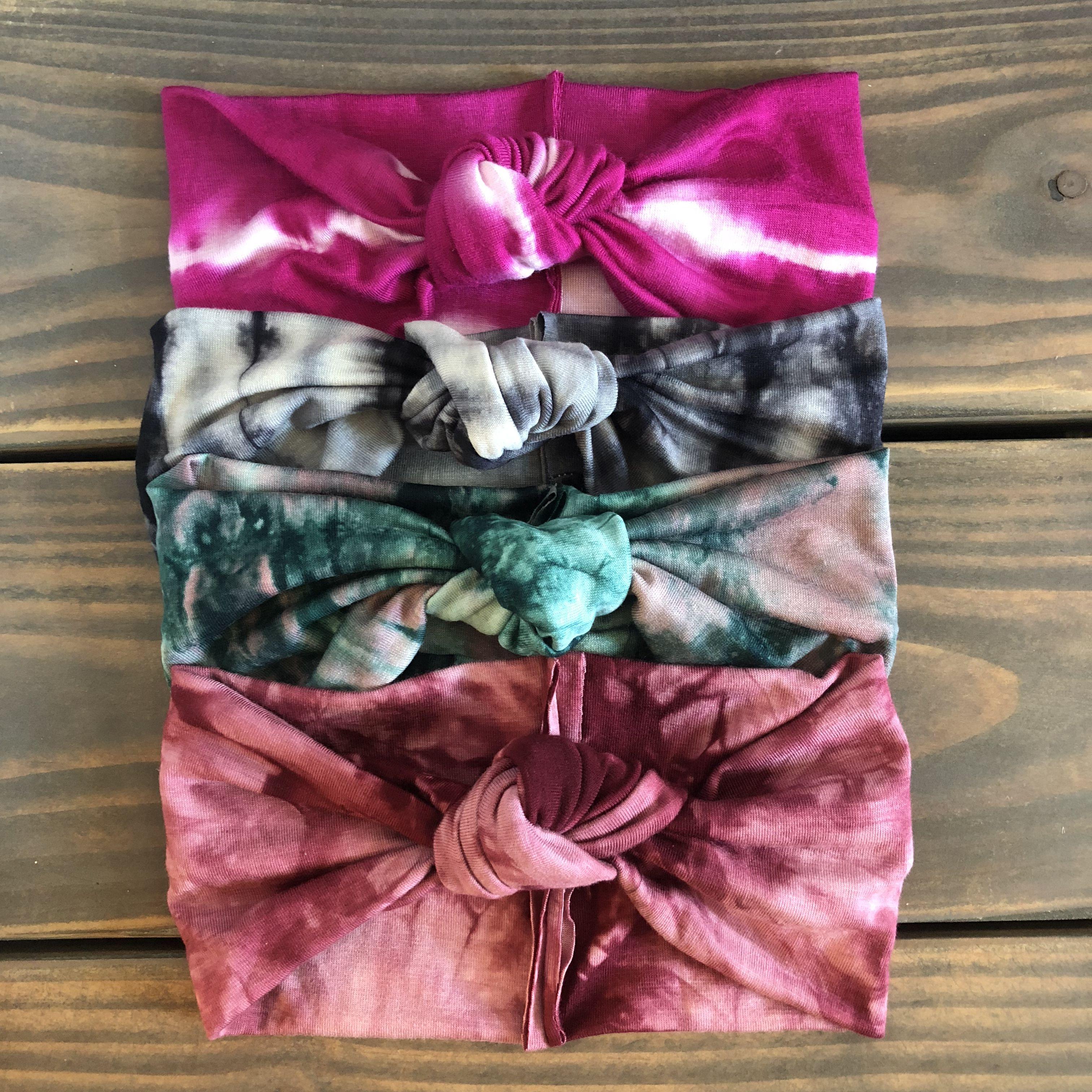 Baby Head Bow Tie Dye Baby Bow Headband Set Baby Hairband Newborn baby Gift Baby Turban Baby Girl Gift Baby Shower gift
