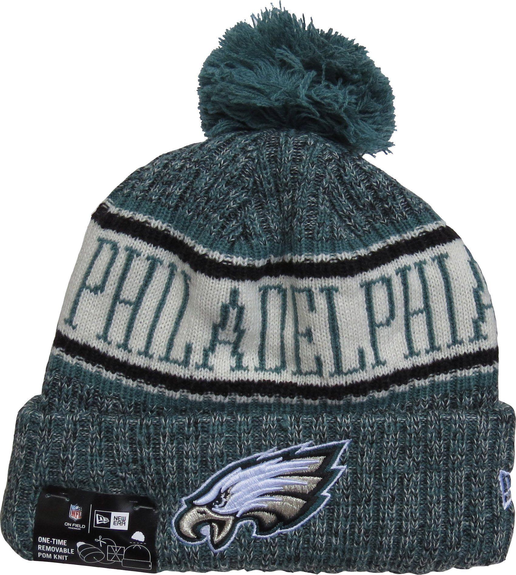 3aafa6628 Philadelphia Eagles New Era NFL On Field 2018 Sport Knit Bobble Hat ...