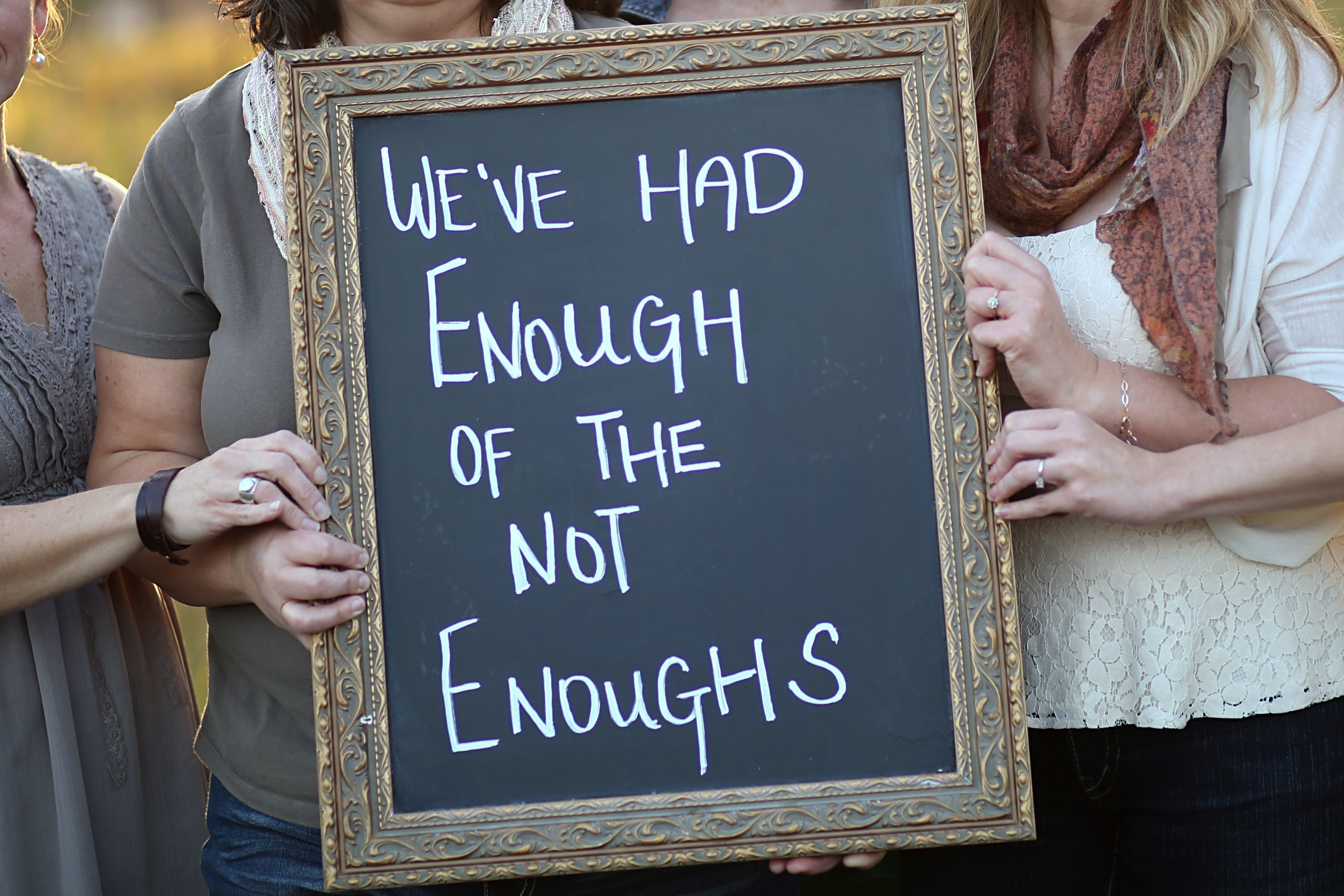 We've Had Enough of the NotEnoughs Words matter, Enough
