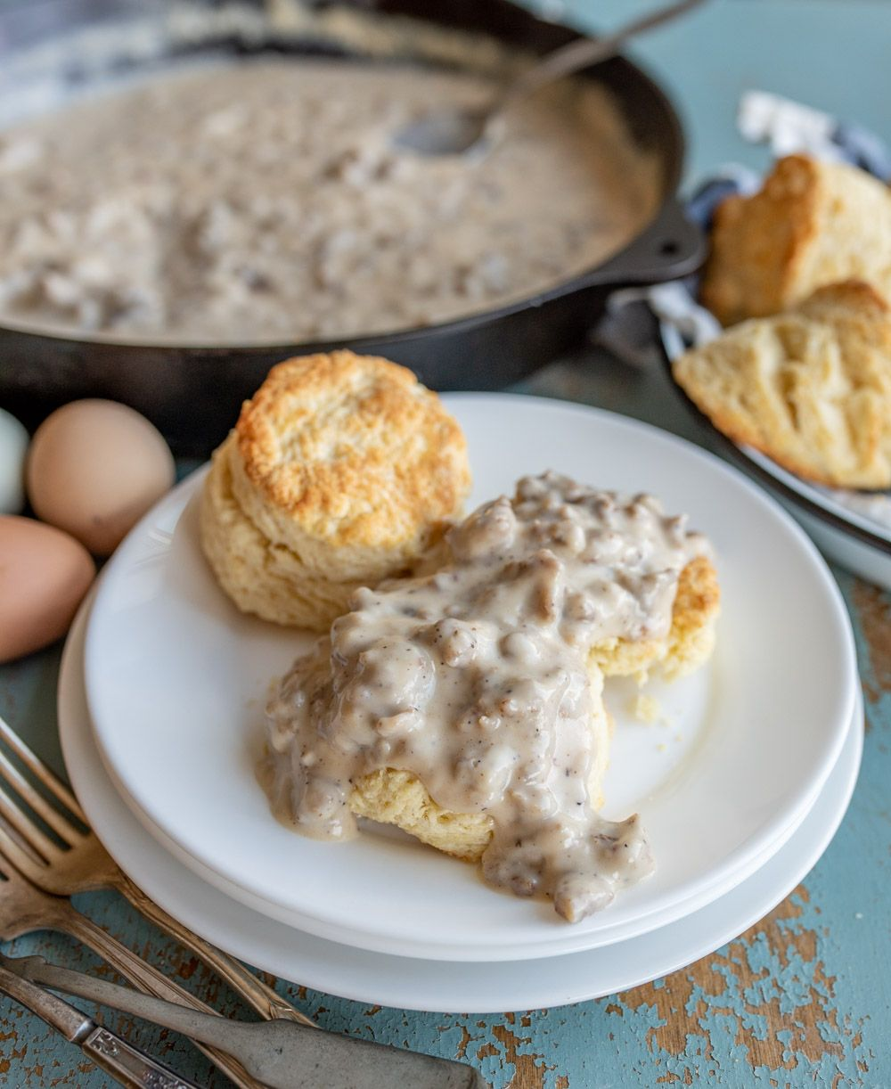 Homemade Biscuits And Gravy Recipe Homemade Biscuits Sausage Gravy Best Homemade Biscuits