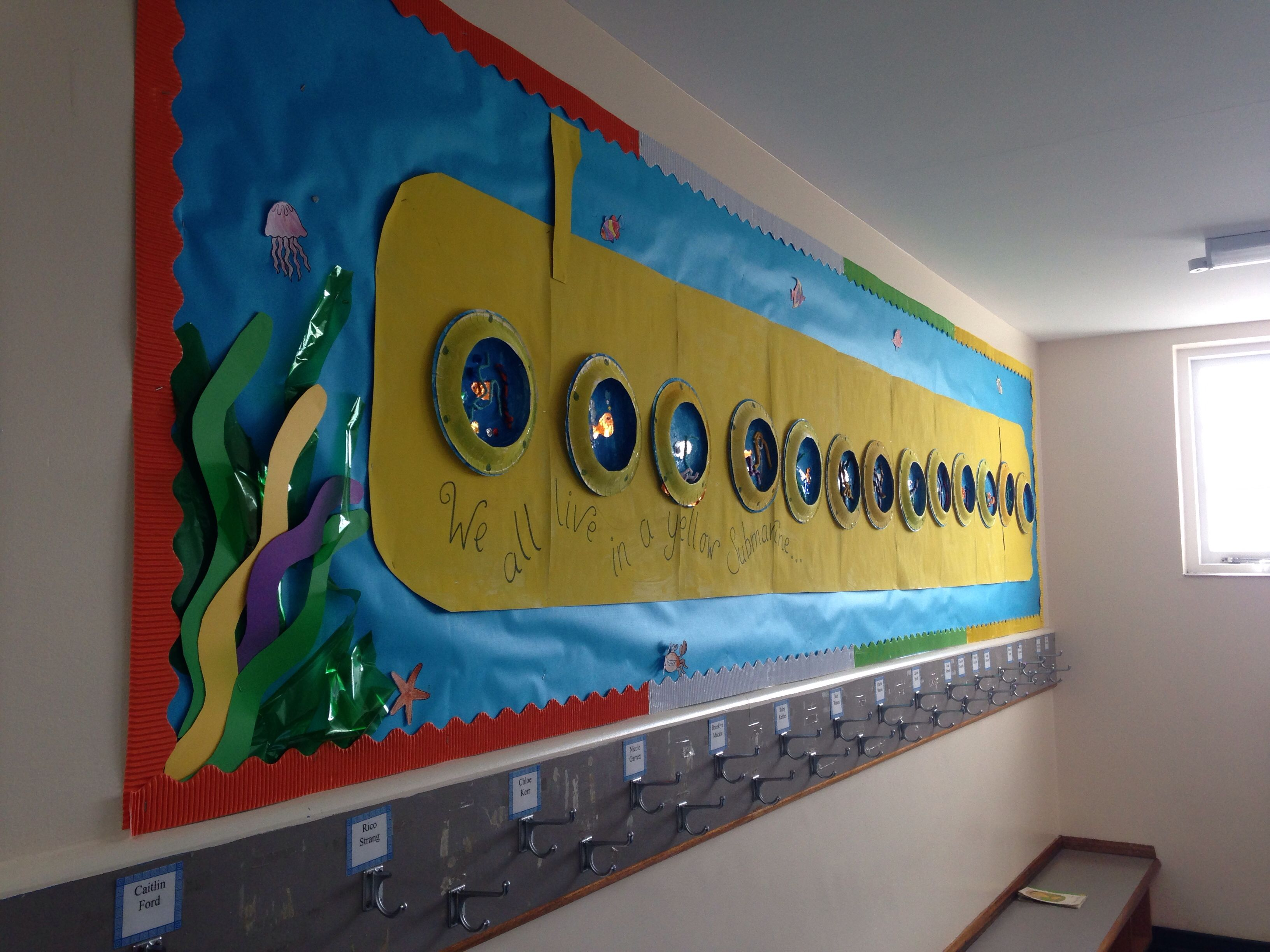 Yellow Classroom Decor : Yellow submarine. each child designed their own window for the side