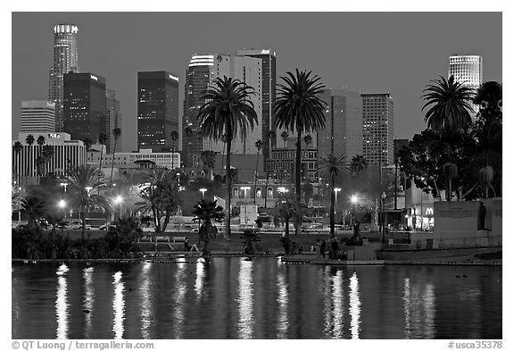 Los Angeles Skyline Black And White Los Angeles Skyline Los Angeles Pictures Skyline