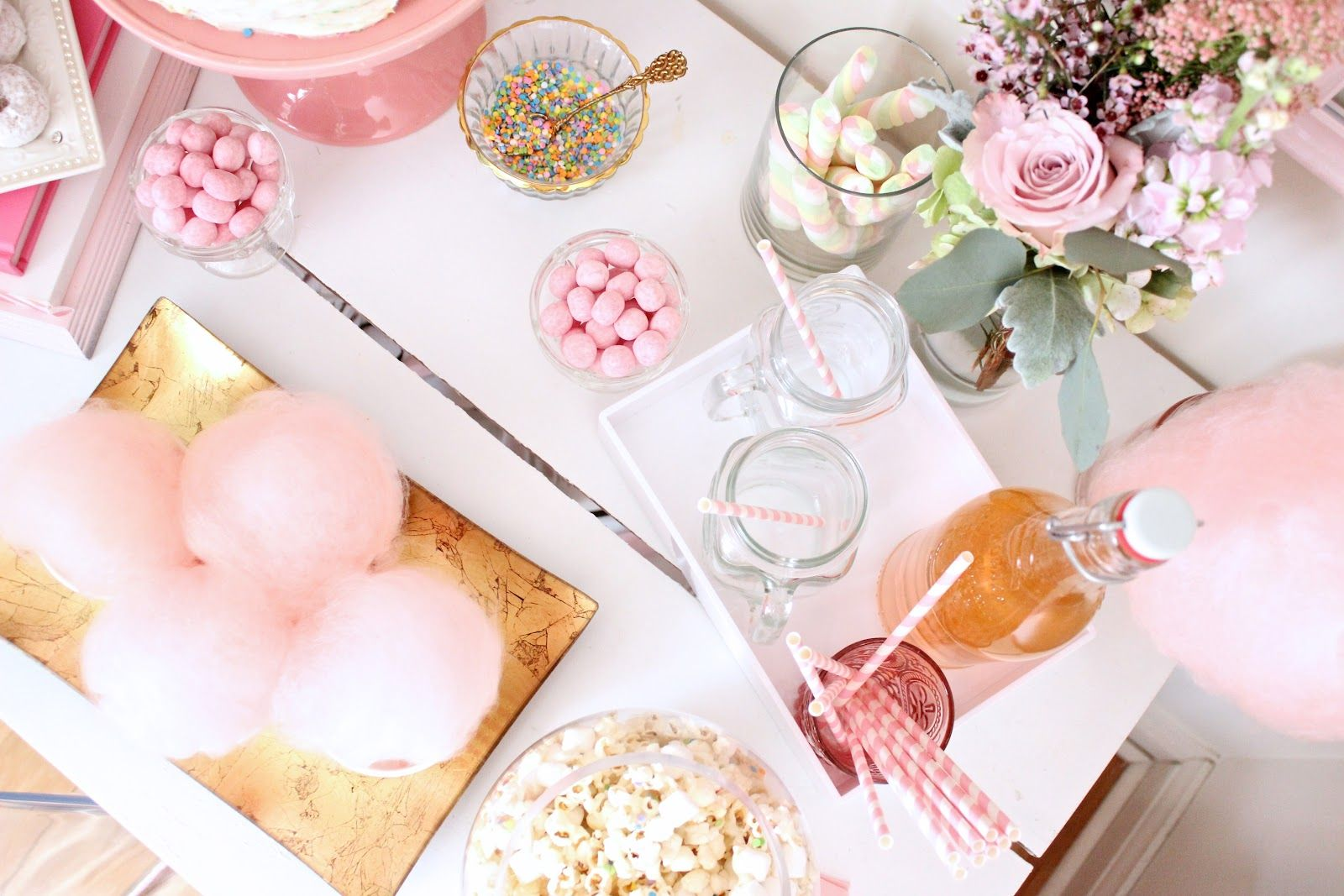 pastels & pastries X fancy pufs - pink party cotton candy | Fancy ...
