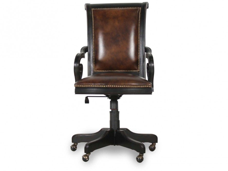 Furniture Inspiring Wood Desk Chairs Classic Long Back Black