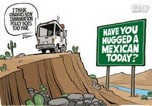 005 Hug a mexican Funny Illegal Aliens Political cartoons
