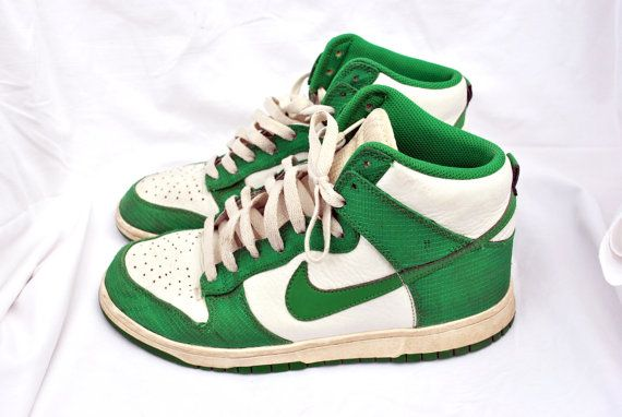 Vintage Shoes / NIKE / Dunk High Vintage – Celtic / 80s / Style / Womens / Hi  top / Green / White / Sneakers / Size 41