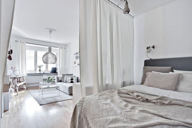 un lit derri re le rideau planete deco a homes world interior design pinterest les. Black Bedroom Furniture Sets. Home Design Ideas