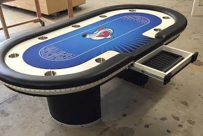 Colorado Avalanche Hockey Custom Poker Table