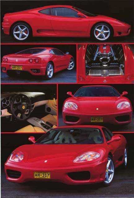 "Ferrari Supercar Luxury car Poster 24/""x 36/"""