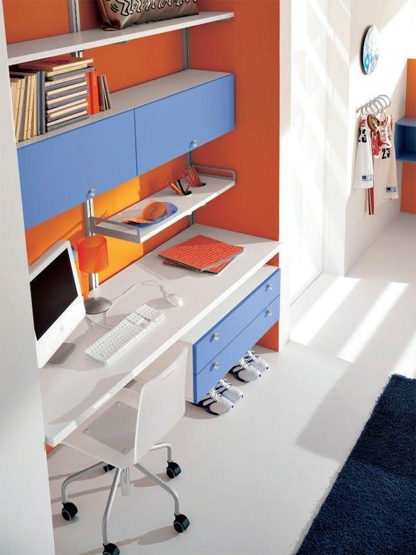 Boys bedroom, computer and study desk furniture design ideas ...