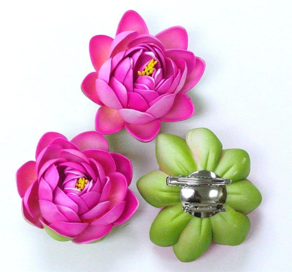 3 x silk flower hot pink lotus 2 in 1 brooch buttoholes hair head 3 x silk flower hot pink lotus 2 in 1 brooch buttoholes hair head clippolyfoam mightylinksfo