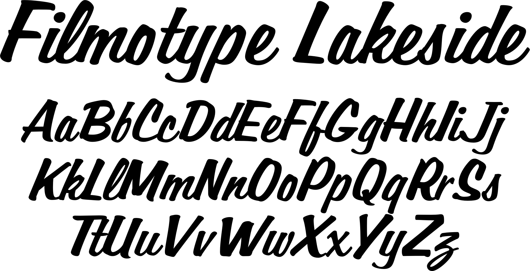 Filmotype Lakeside font - originally offered by Filmotype in