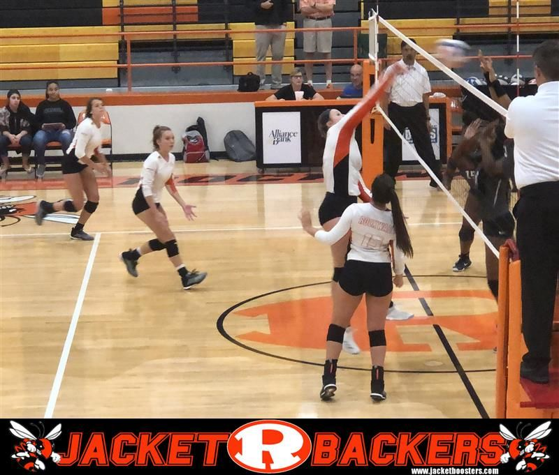 Rockwall Lady Jackets Jv Easily Defeated Mesquite Horn In Two Sets At Rockwall High School High School Jackets For Women Basketball Court
