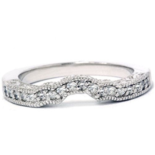 vintage wed band to wrap around the multi-diamond ring from Kay