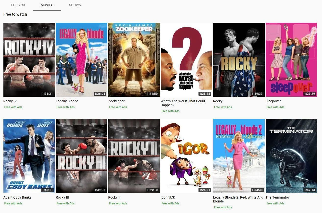 movie streaming service by R Edel
