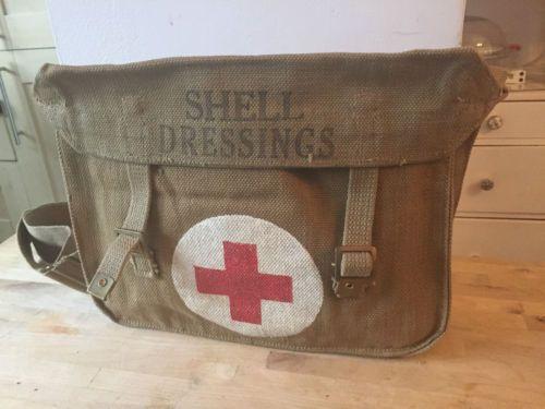 Original-WW2-1943-Dated-British-Shell-Dressing-Canvas-Medic