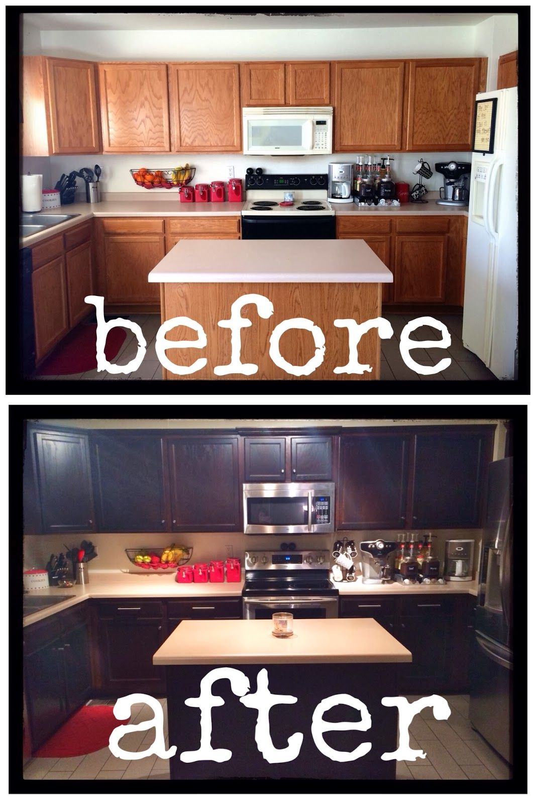 How To Inexpensively Stain Paint Refinish Your Kitchen Cabinets Staining
