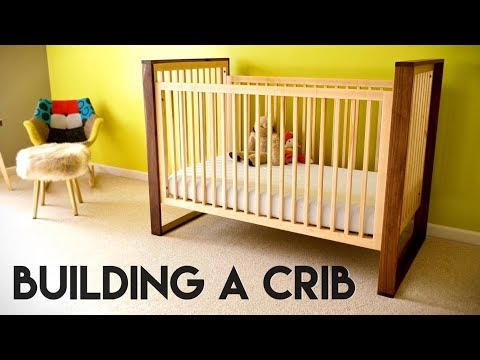 I Built A Mid Century Modern Baby Crib For My First Kid Arriving In A Few Weeks This Was A Really In 2020 Wooden Baby Crib Crib Woodworking Plans Diy Baby Furniture